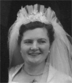 My mother on her wedding day