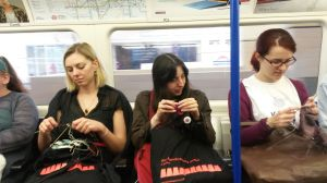Tube knitting - as opposed to tubular - although there are a lot of socks going on in this photo