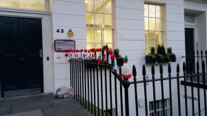 Yarn bombing - Birkbeck