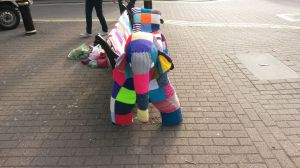 Is it bird, is it a plane - no it's a park bench disguised as Elmer